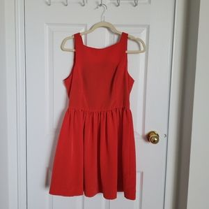 Little red baby doll dress